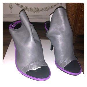 Balenciaga Gray and Purple Heels